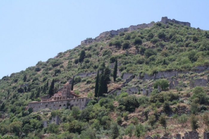 castelo de mystras grecia
