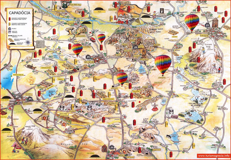 capadócia mapa Capadócia   Capadócia Turquia   TurquÃa Viagem capadócia mapa