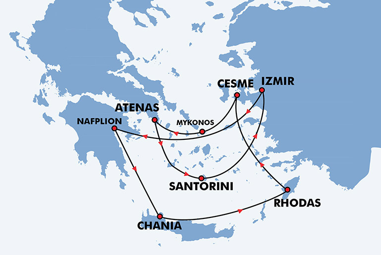 Top Viagem ás Ilhas Gregas - Programa de Viagem Atenas, Santorini  FA12